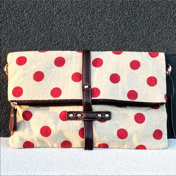 Handbags - New Polka Dot Clutch